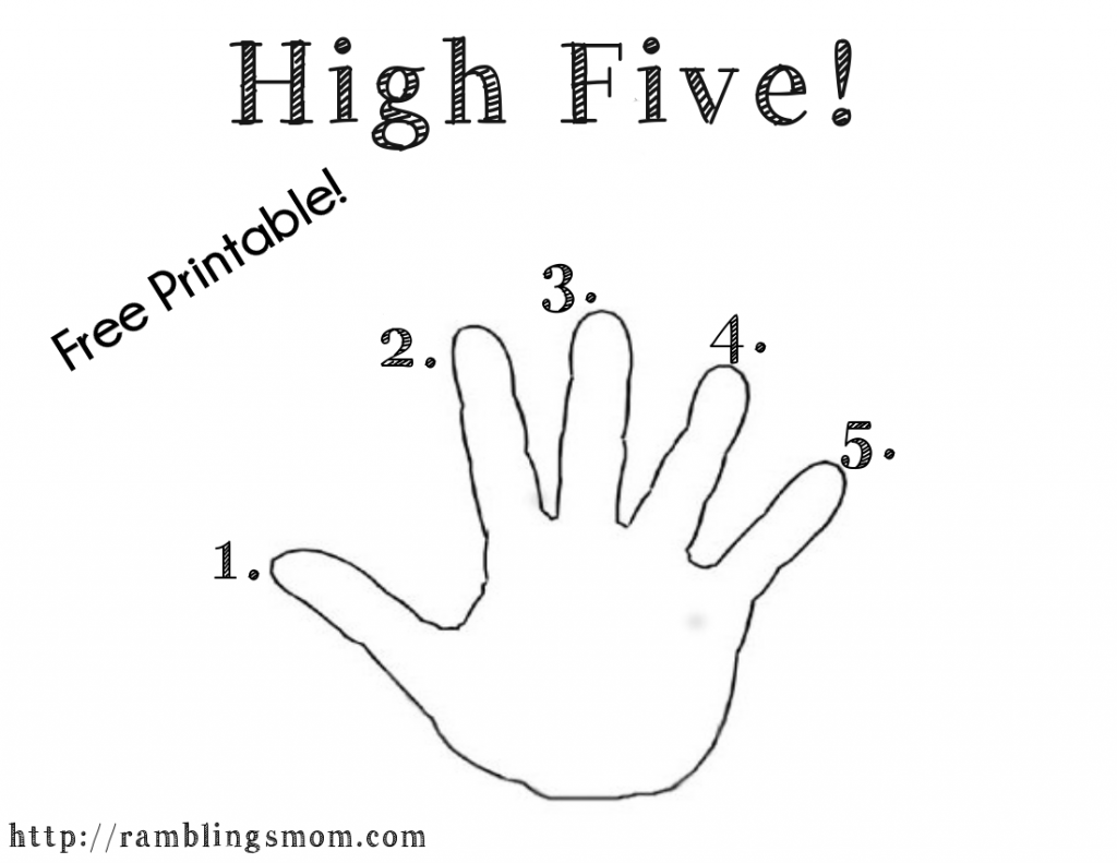 Morning High Five Free Printable Getting Kids Motivated To Do What Needs To Be Done There S