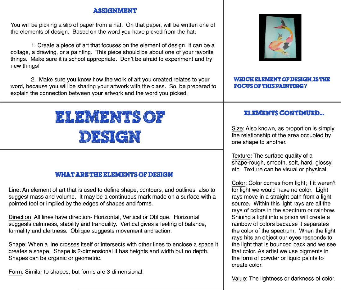 Elements Of Design Mini Project