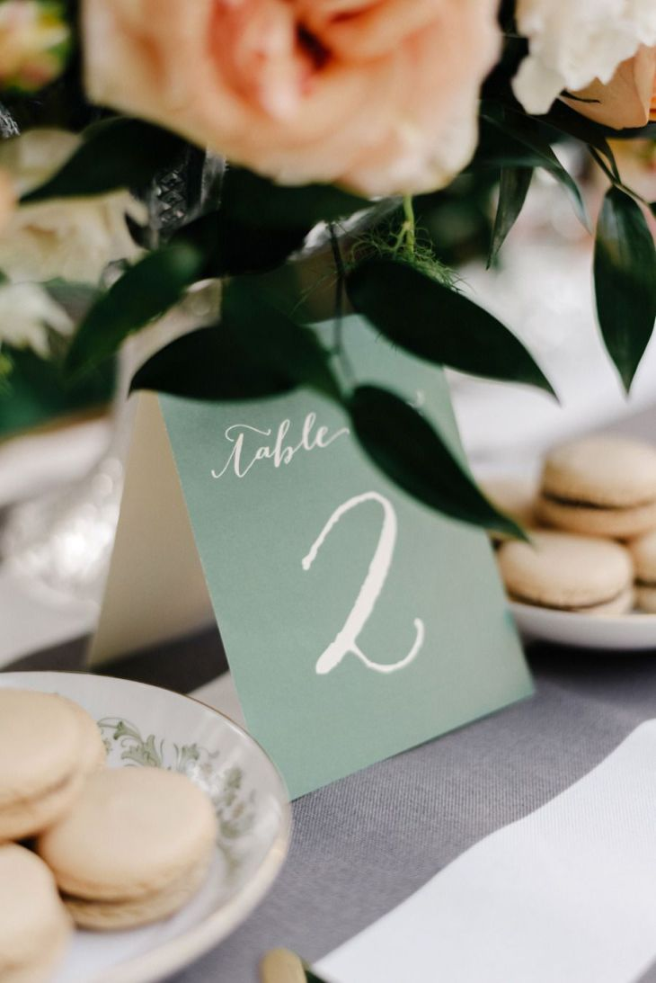 French Elegance Wedding Inspiration Table numbers Florals and Wedding