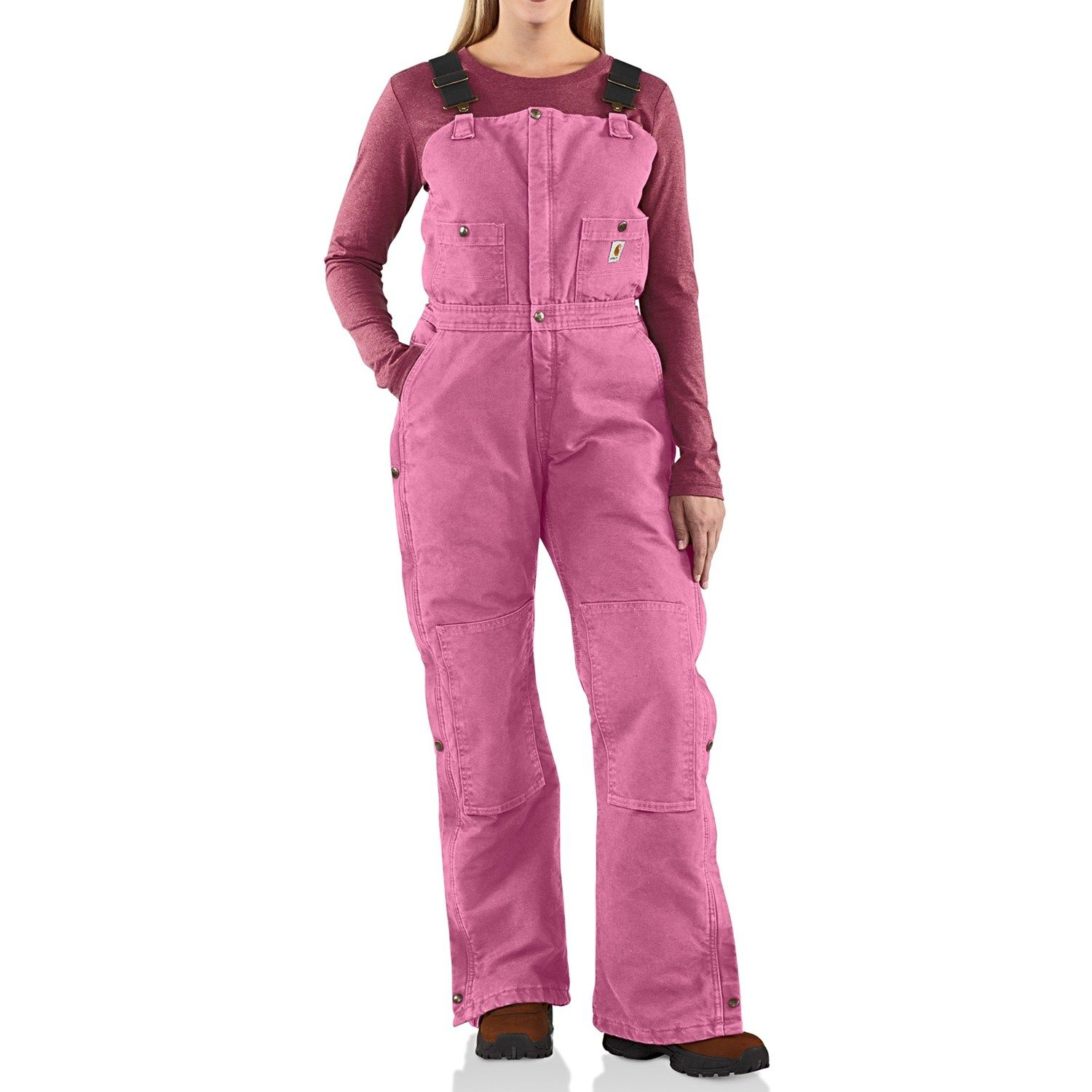 carhartt sandstone bib overalls insulated for women on insulated overalls id=43369