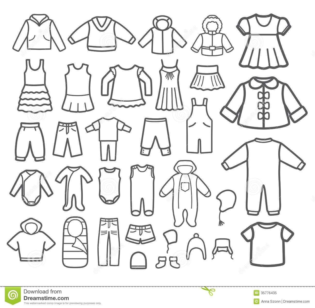 Clothes Clipart Black And