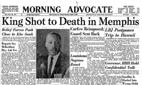 Risultati immagini per martin luther king assassinated