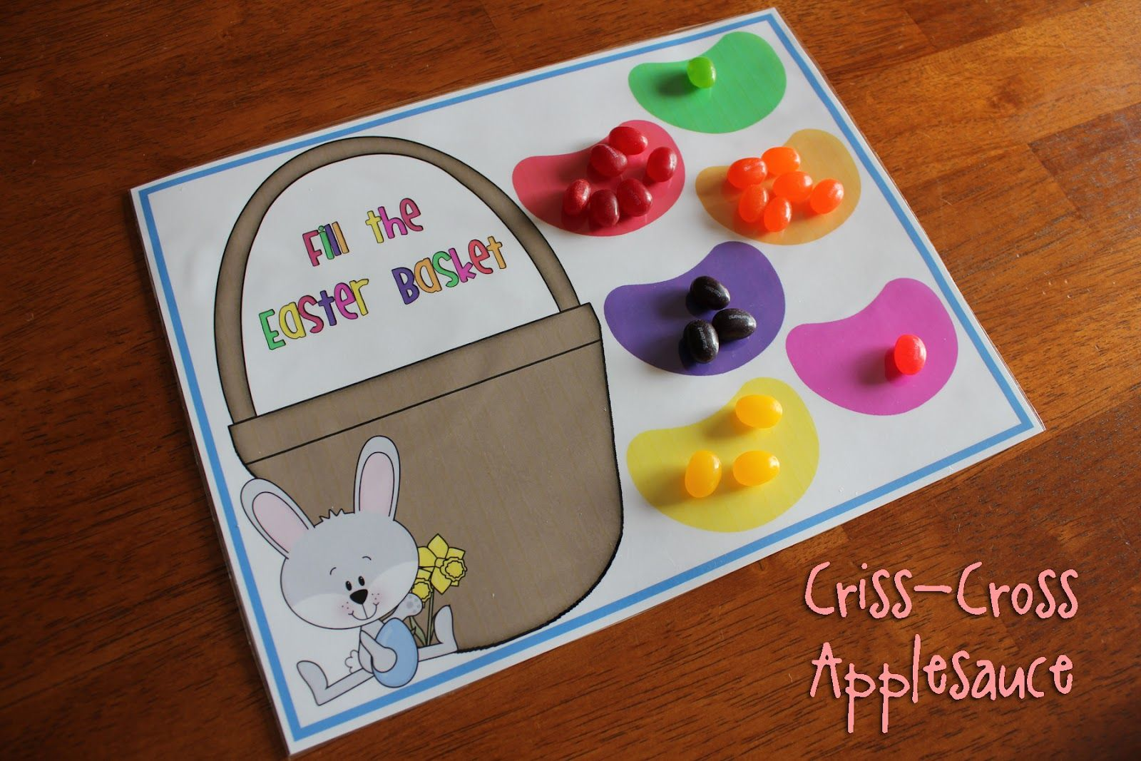 Jelly Bean Color Game With Free Printable From Criss Cross