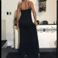 Goth in summer black maxi size small ambiance brand black ruffle hem