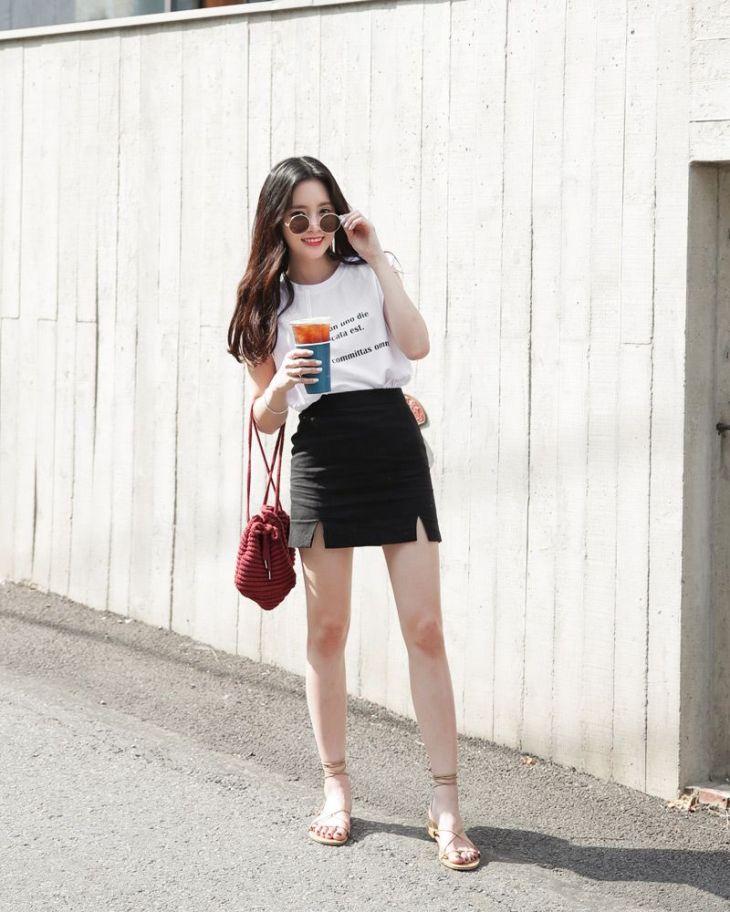 Dahong style summerlook DainMT Moda Coreana Pinterest