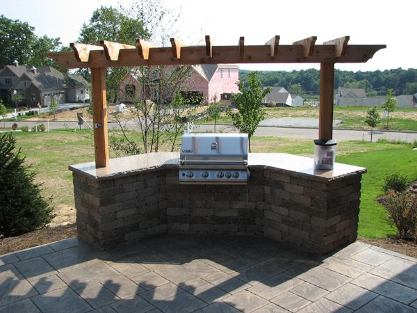 covered grill station - not grill top but slide-in, like ... on Patio Grill Station id=26184