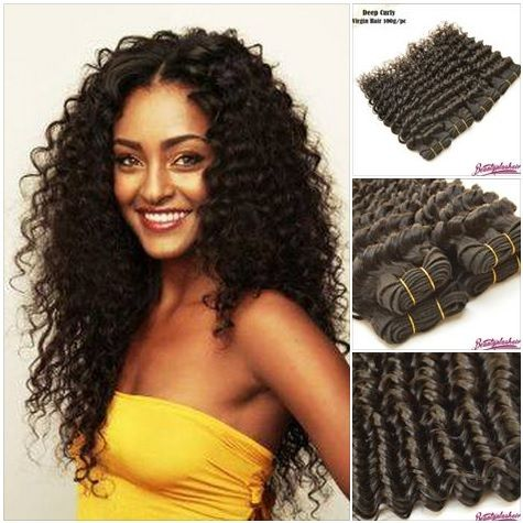 3pcs lot indian deep wave deep curly virgin hair weave natural color 10 30inch unprocessed