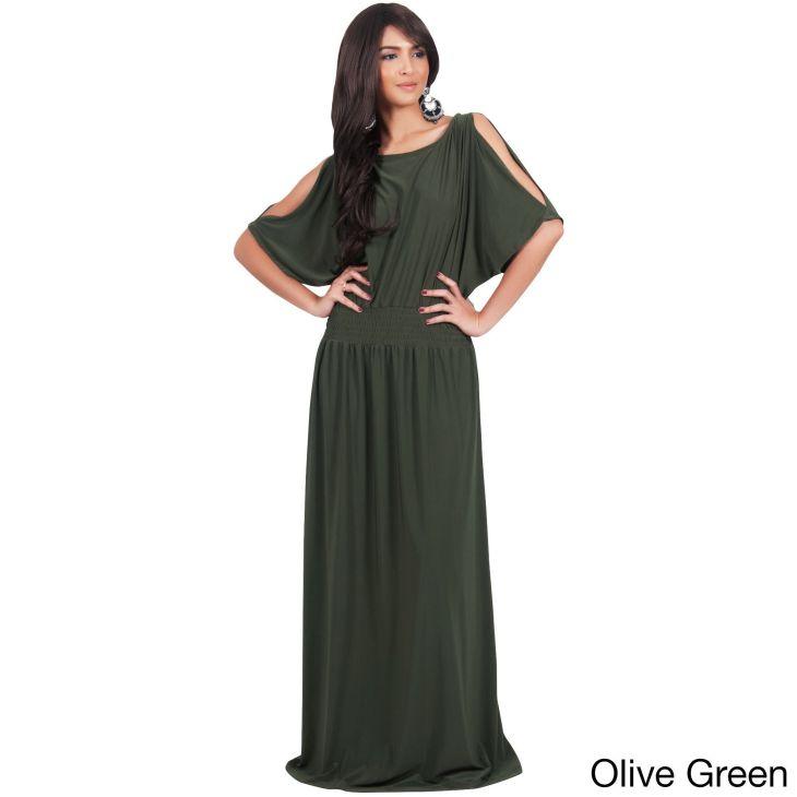 Global KOH KOH Womenus Split Sleeves Cocktail Long Gown Maxi Dress