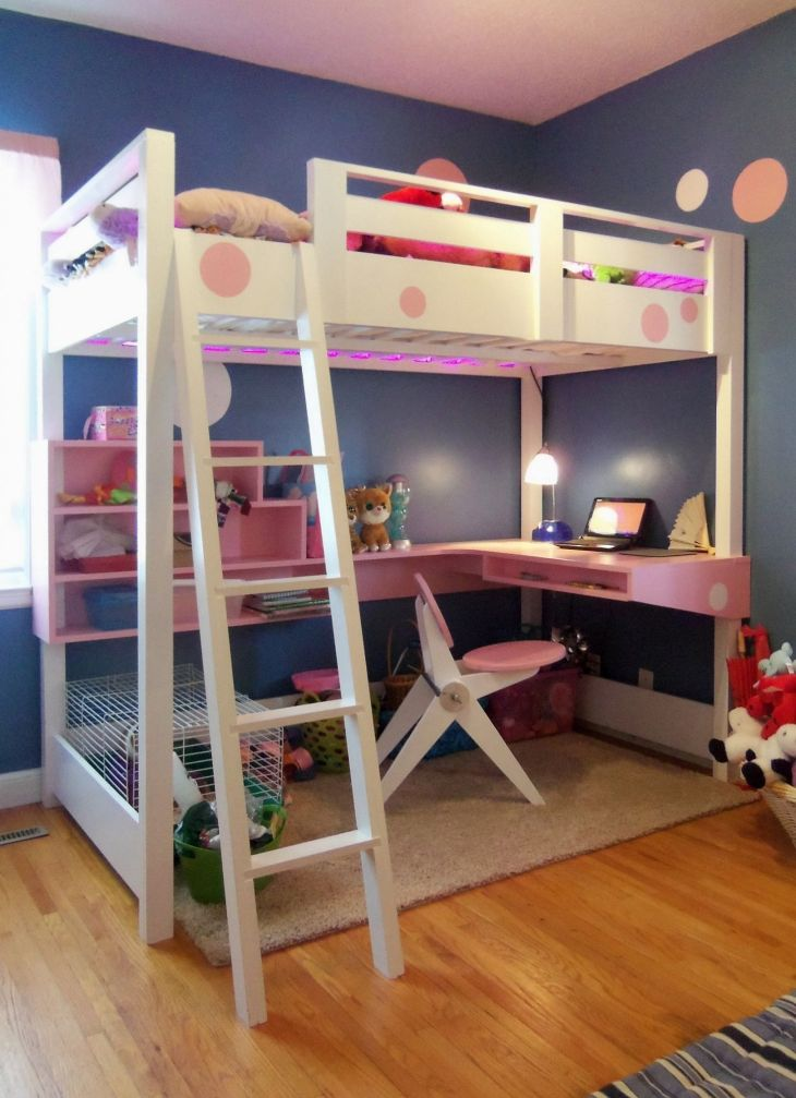 Loft Bunk Bed with Desk Underneath  Diy Stand Up Desk Check more at