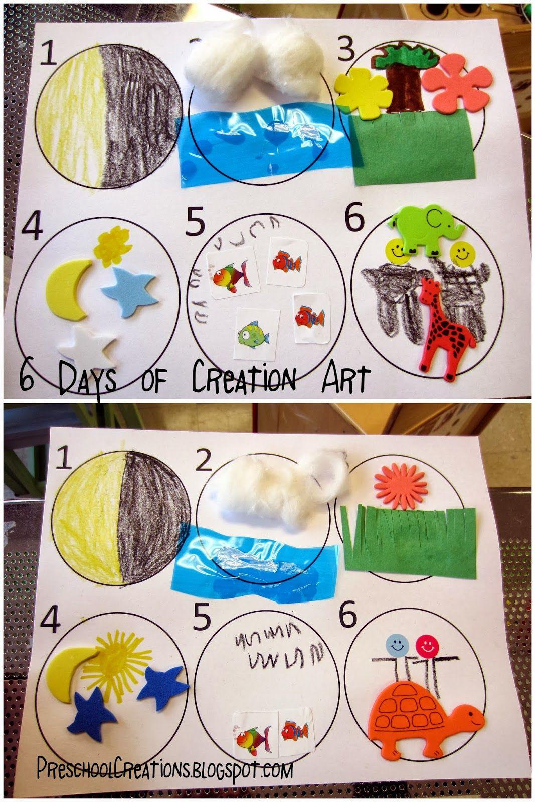 Preschool Creations 6 Days Of Creation Activities