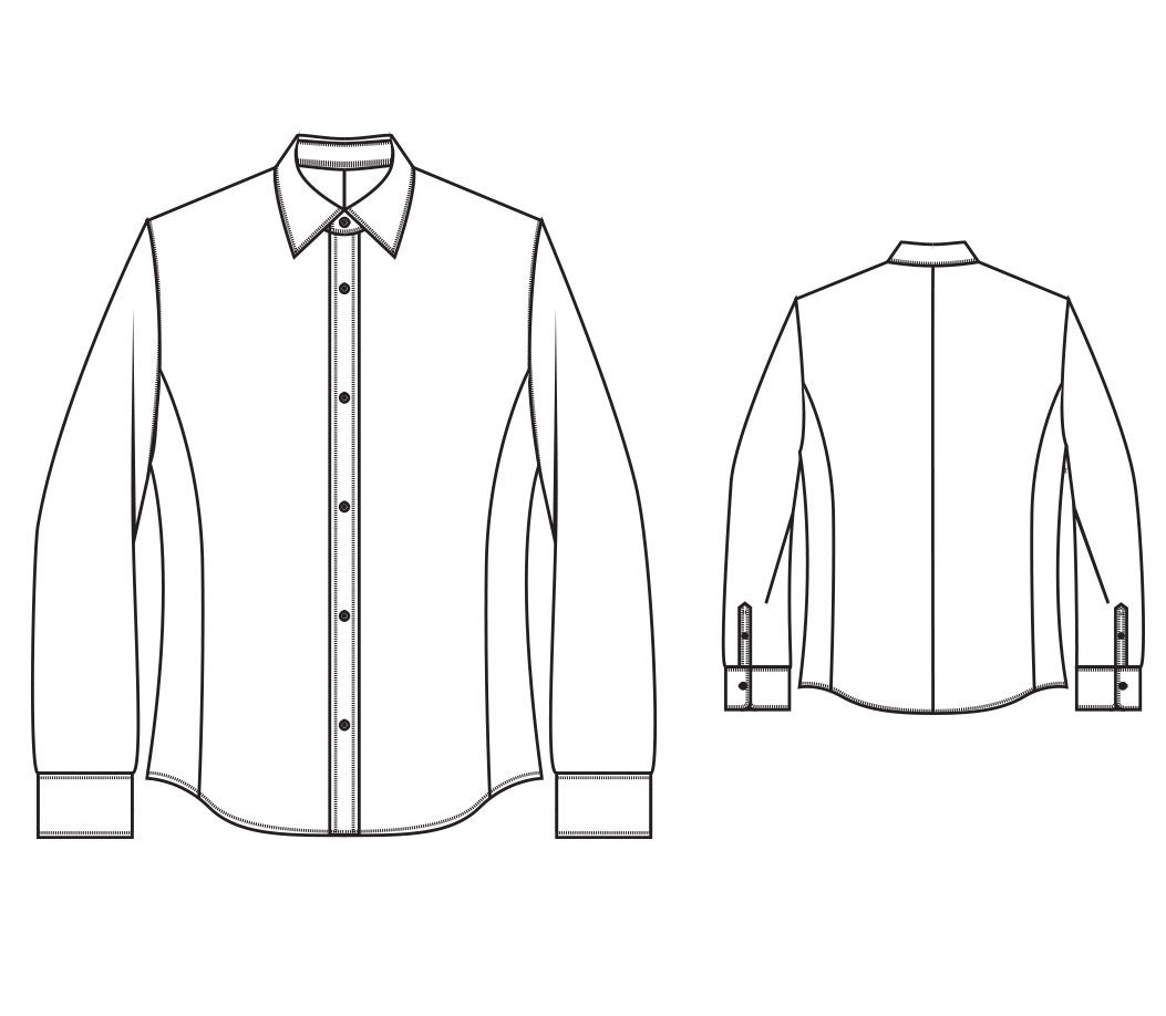 Slim Fitting Shirt Sewing Pattern Mens