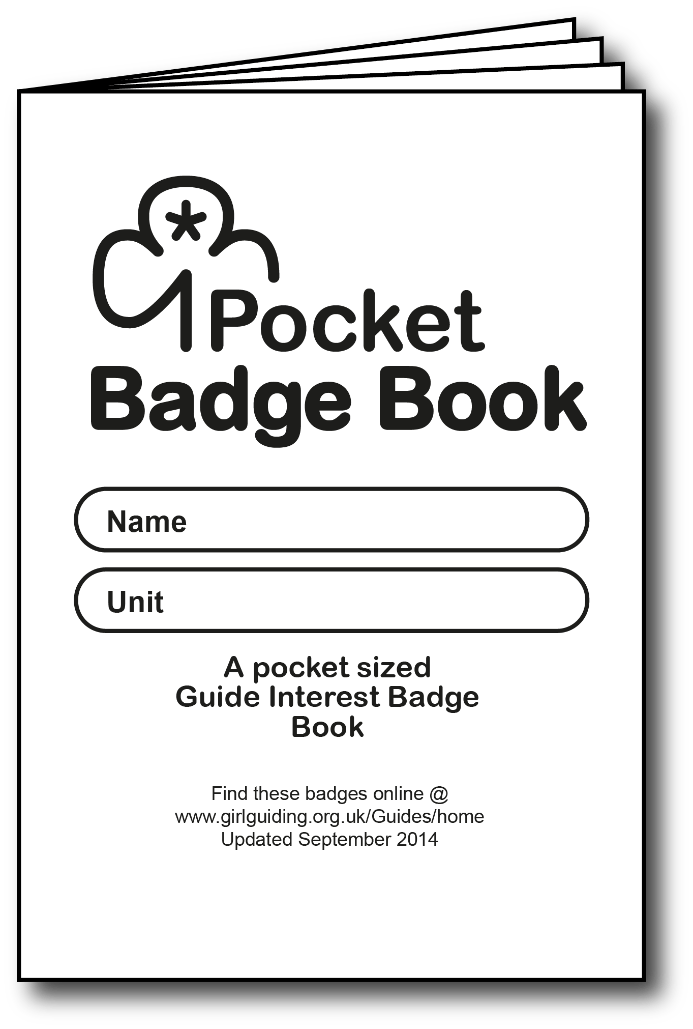 A Pocket Sized Interest Badge Book For Guides Designed For Black And White Printing Copying