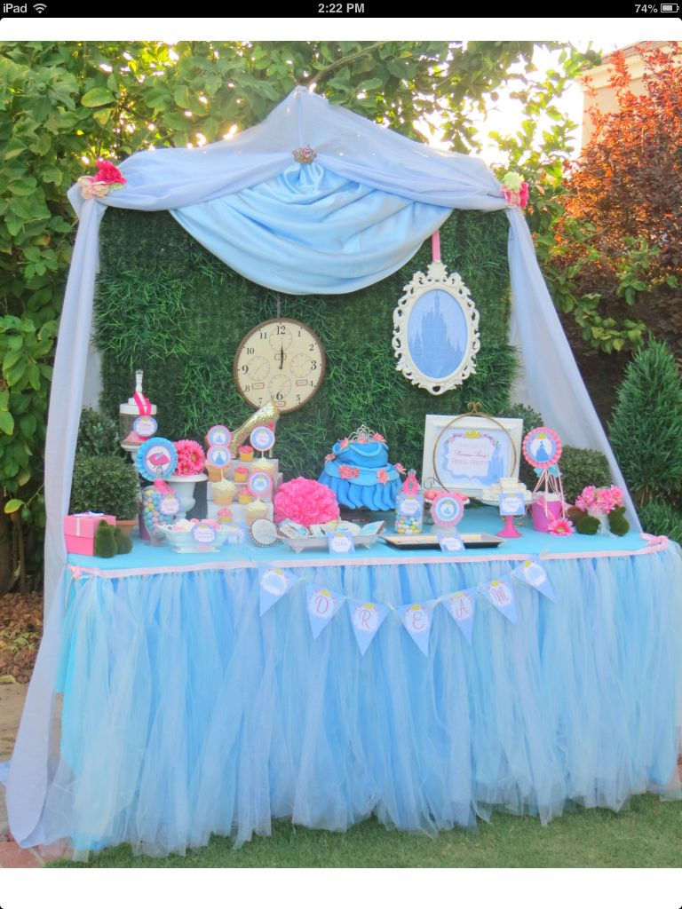 Great Party Decor For Cinderella Themed Party Cinderella