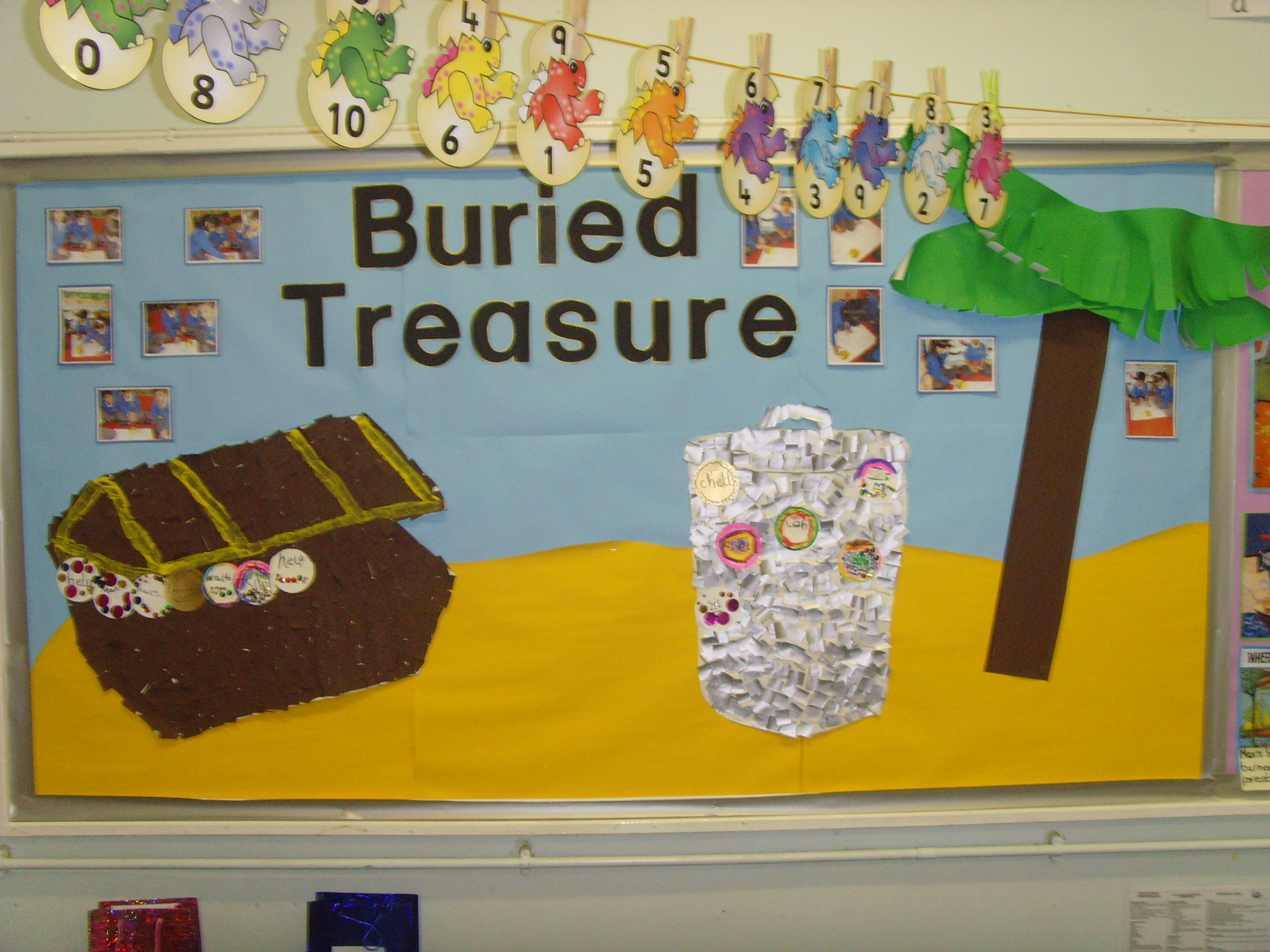 Phonics Buried Treassure Display