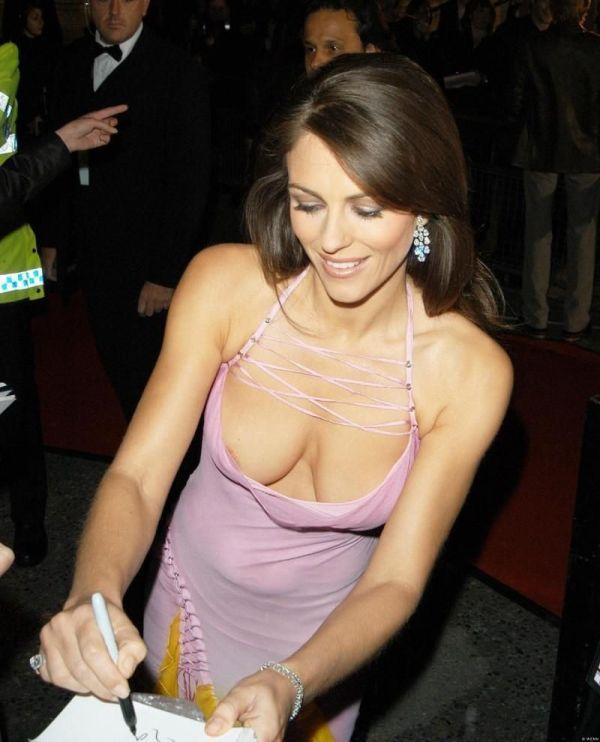 Large image of Elizabeth Hurley Downblouse Dress at ...