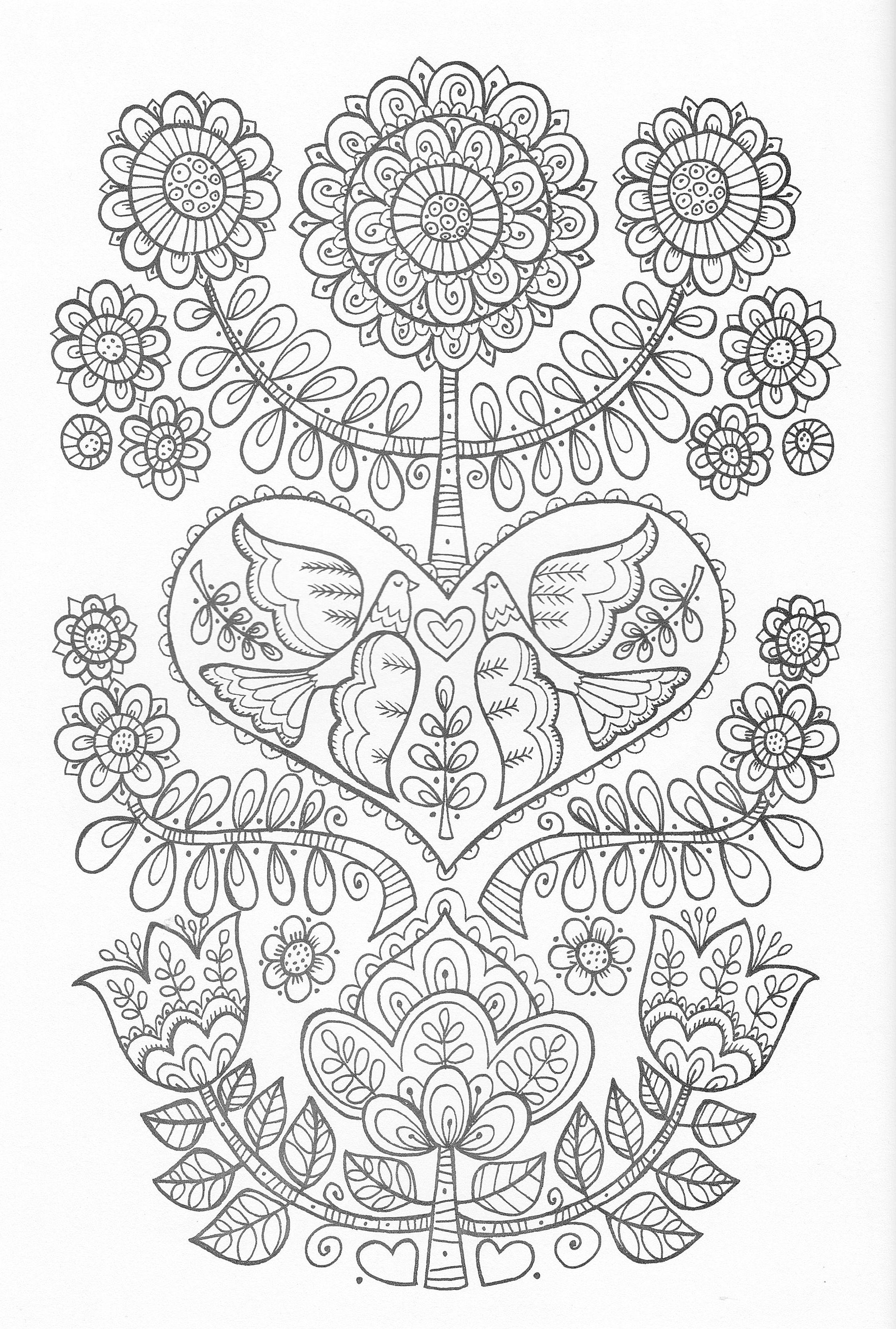 Scandinavian Coloring Book Pg 24