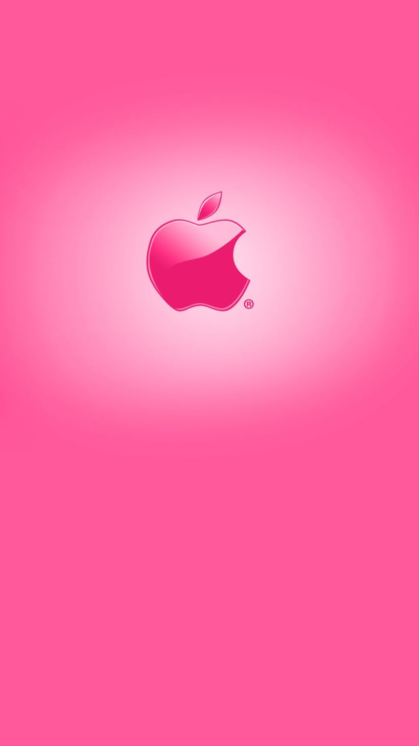 Cute Pink Apple Apples In And Red Iphone 6 Plus Wallpaper