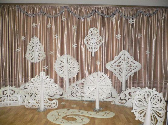 украшение зала на новый год своими руками: 25 тыс ...
