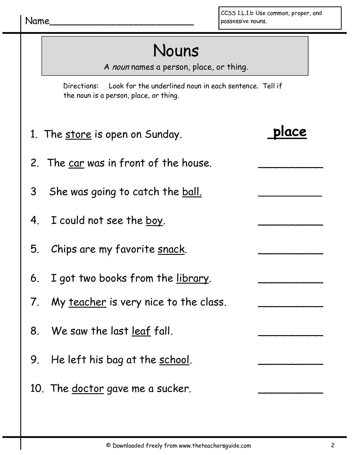Proper Noun Worksheet Abbreviations