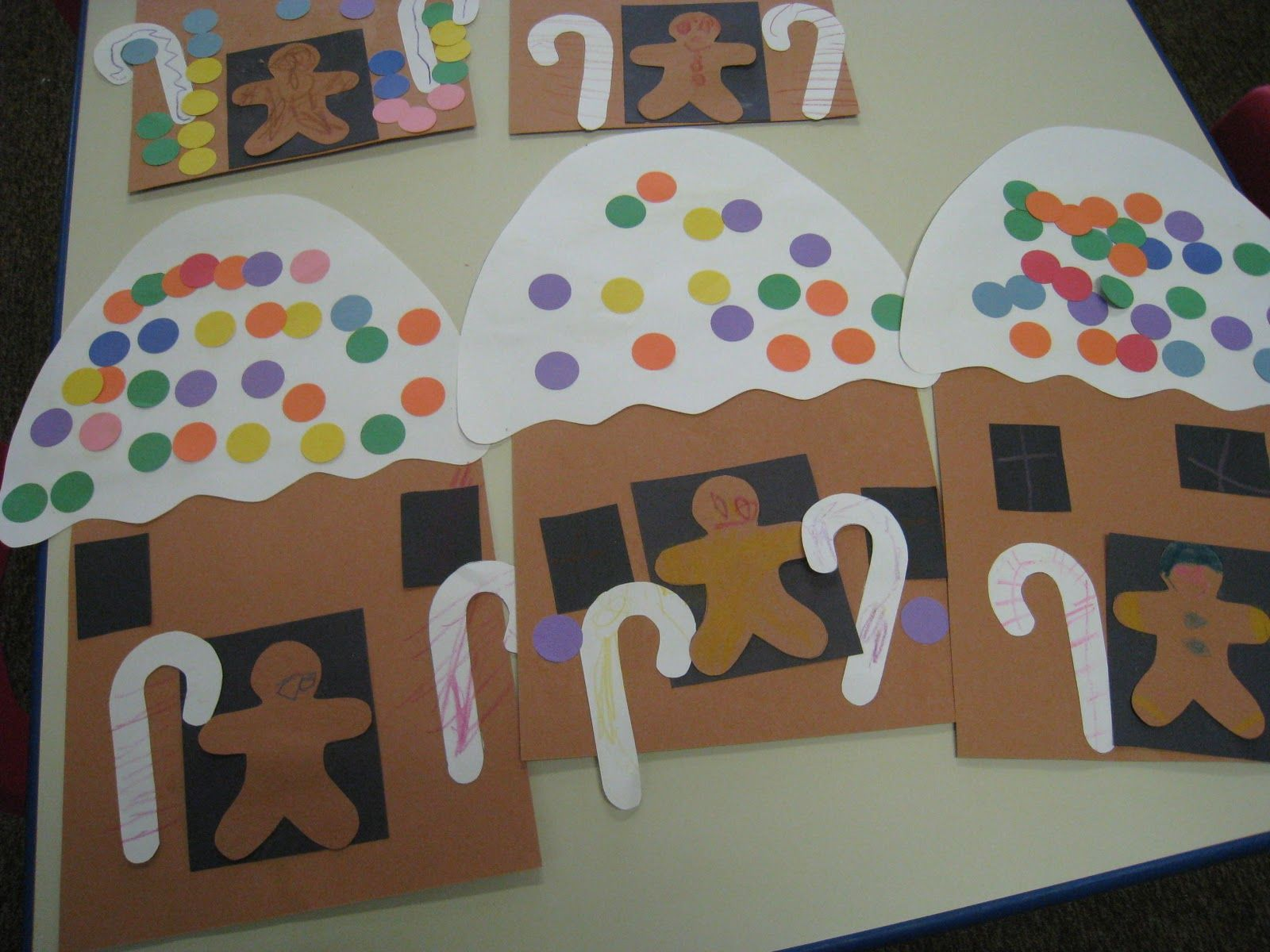 Here Are The Gingerbread Houses We Made I Found This Idea
