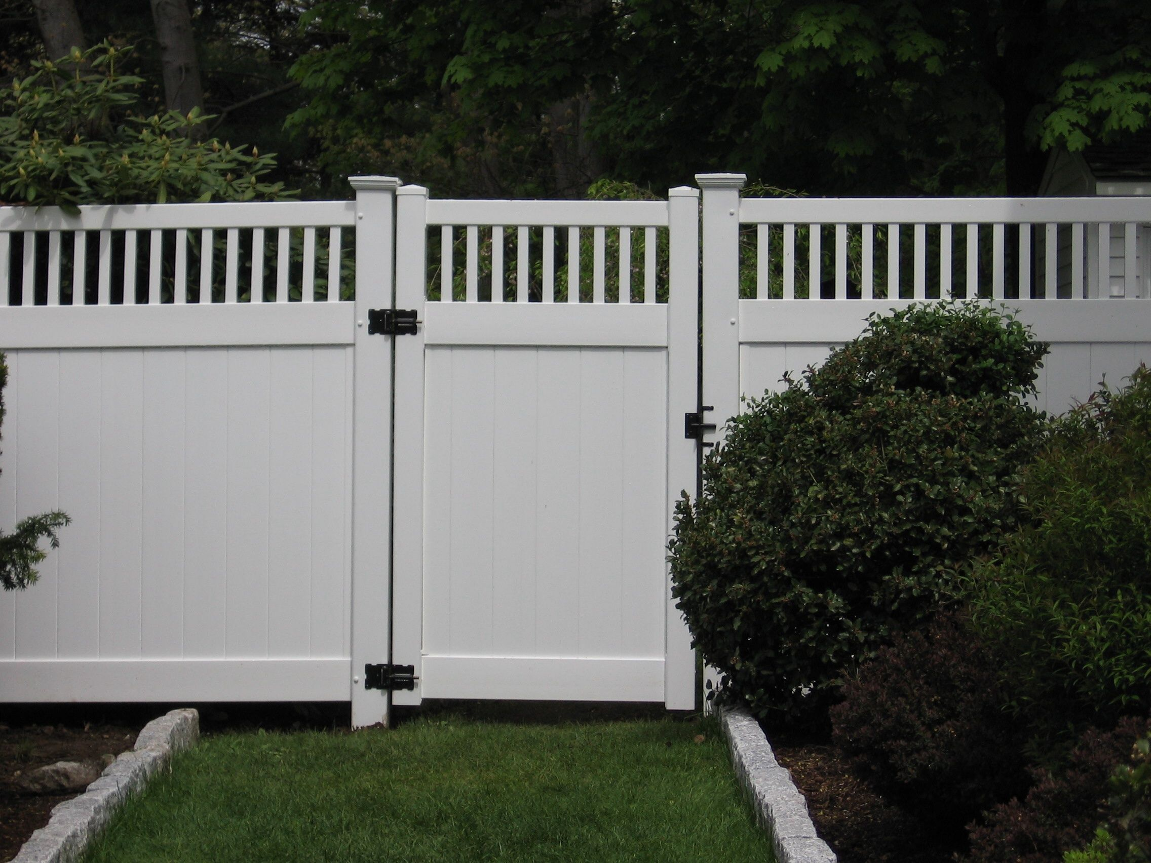 vinyl fences with a gate vinyl fence with essex topper