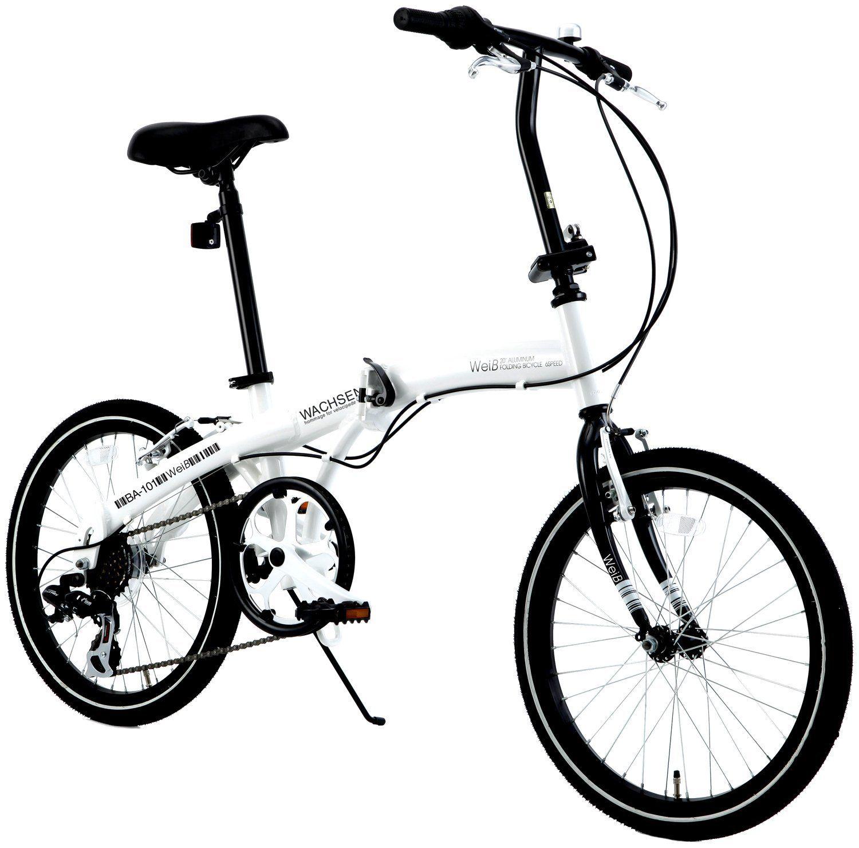 Amazon co jp wachsen ヴァクセン 20インチ 折りたたみ自転車【軽量アルミフレーム】 シマノ6段変速 高速52tチェーンホイール vブレーキ 13 0kg ledライト ワイヤー