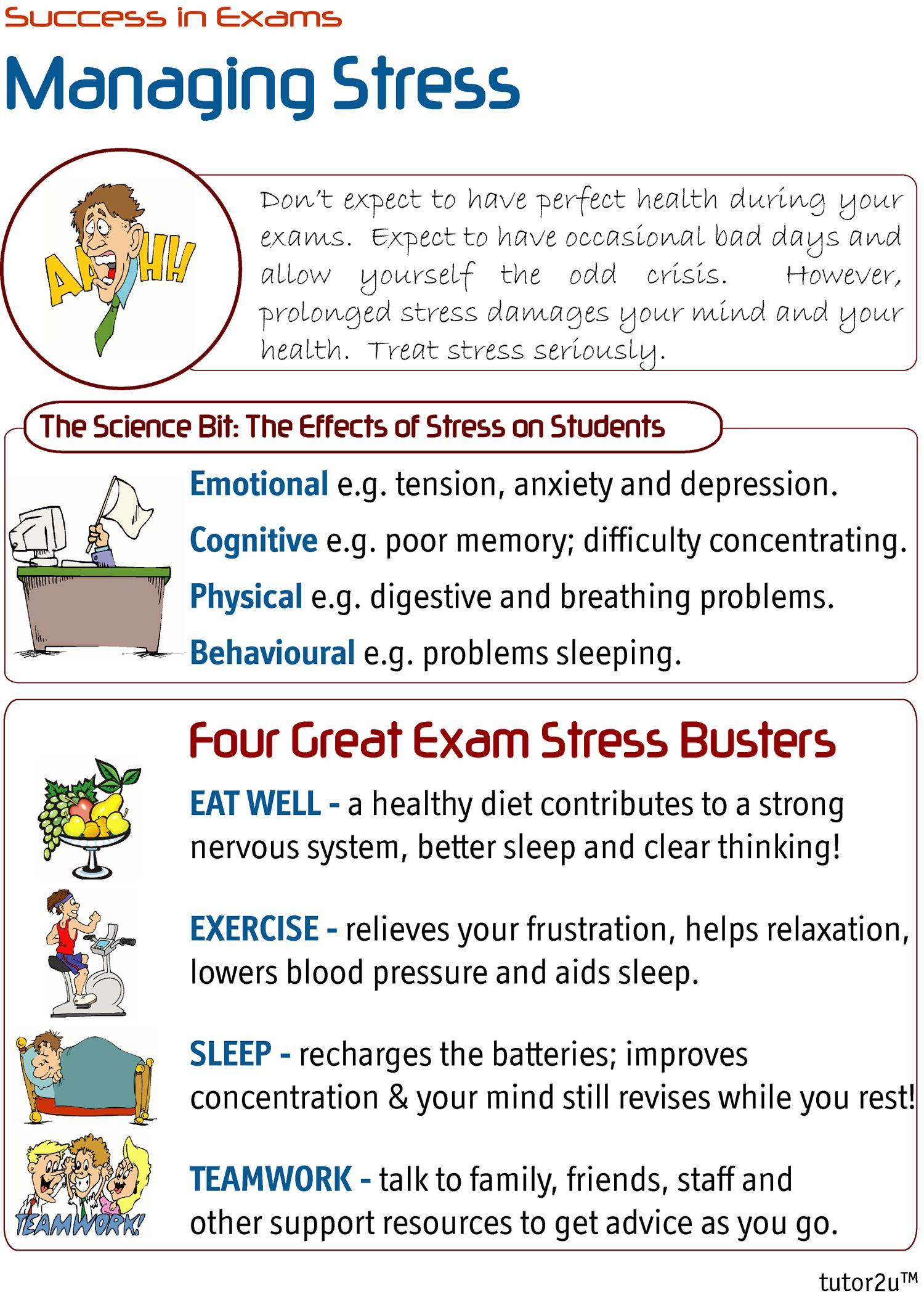 Four Great Exam Stress Busters