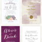 Gorgeous wedding invitations in shades of purple at elli
