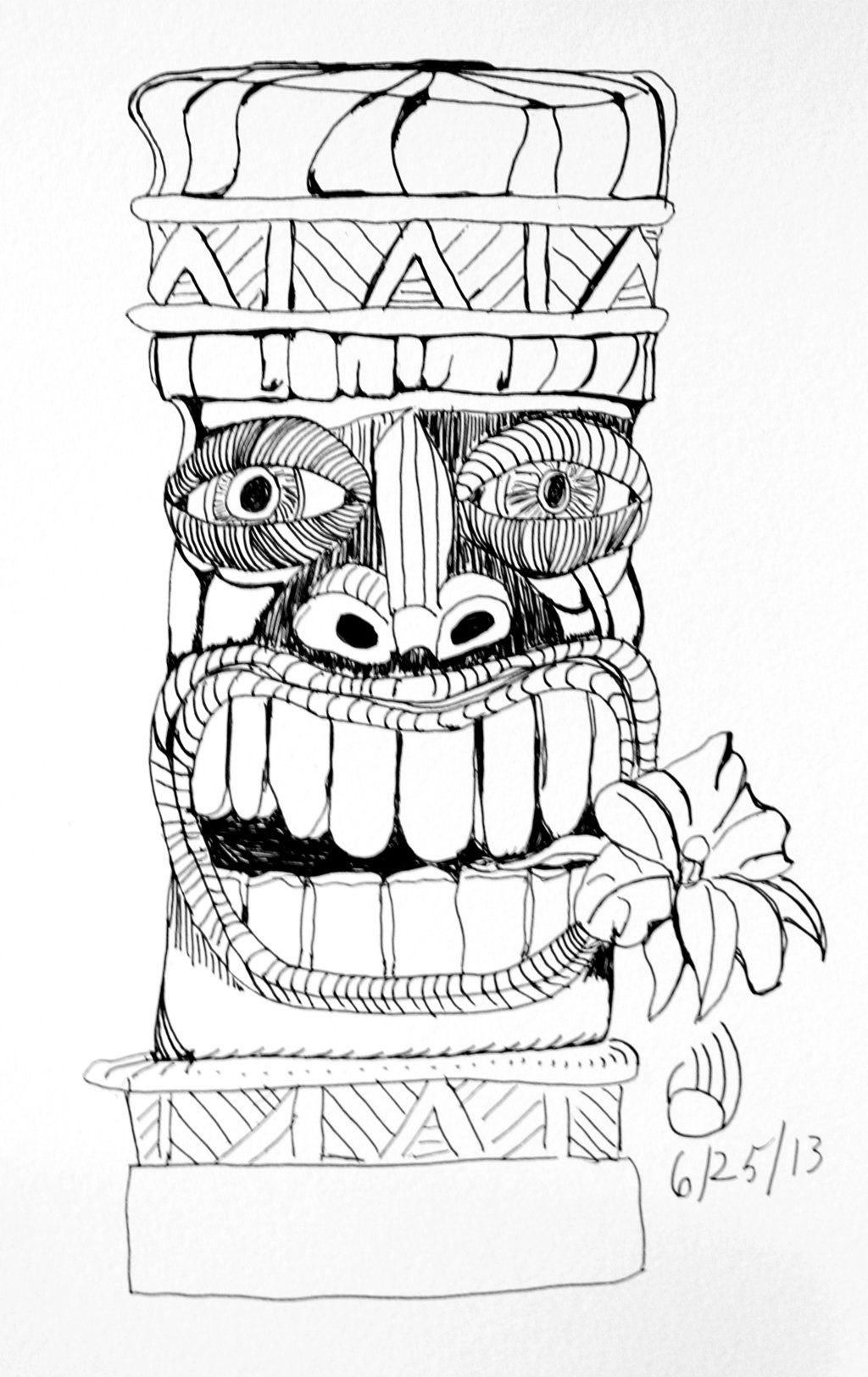 Tikis Drawings