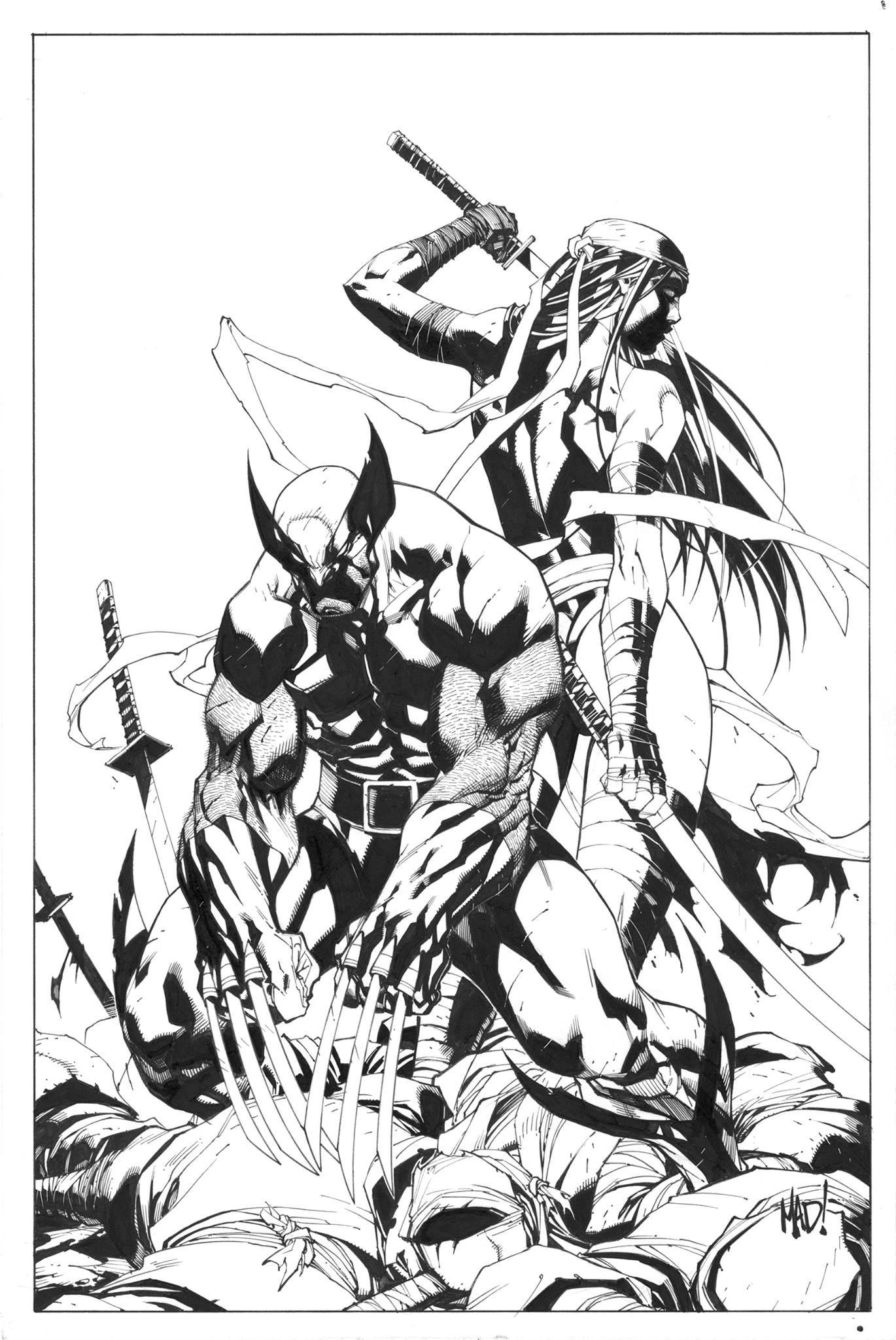 Savage Wolverine 8 Joe Madureira M Comic Art Community