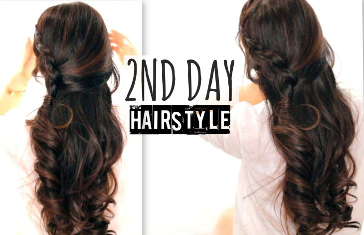 CUTE ND DAY HAIR CROSSOVER BRAIDS HAIRSTYLES TUTORIAL CURLY