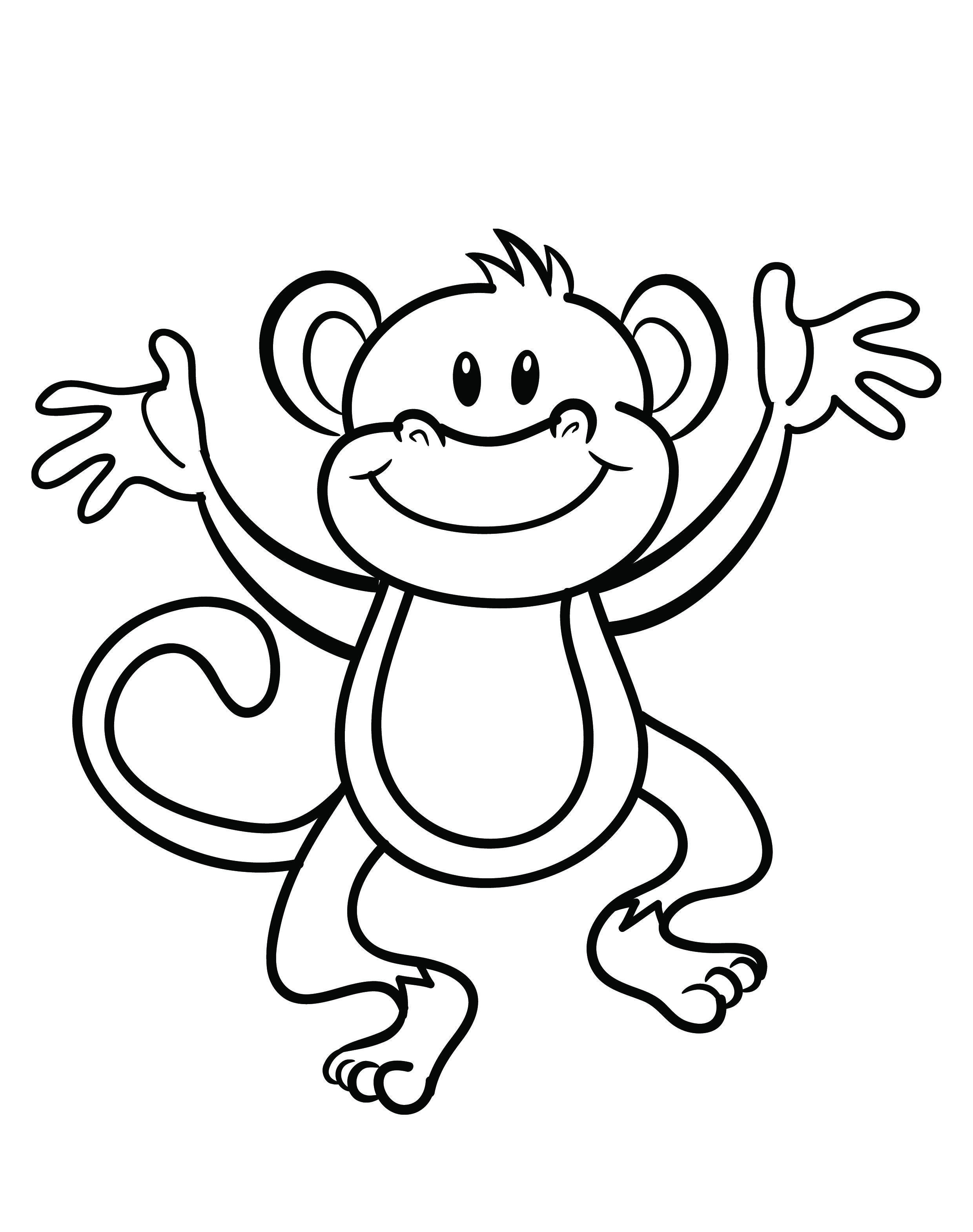 Free Printable Monkey Coloring Page