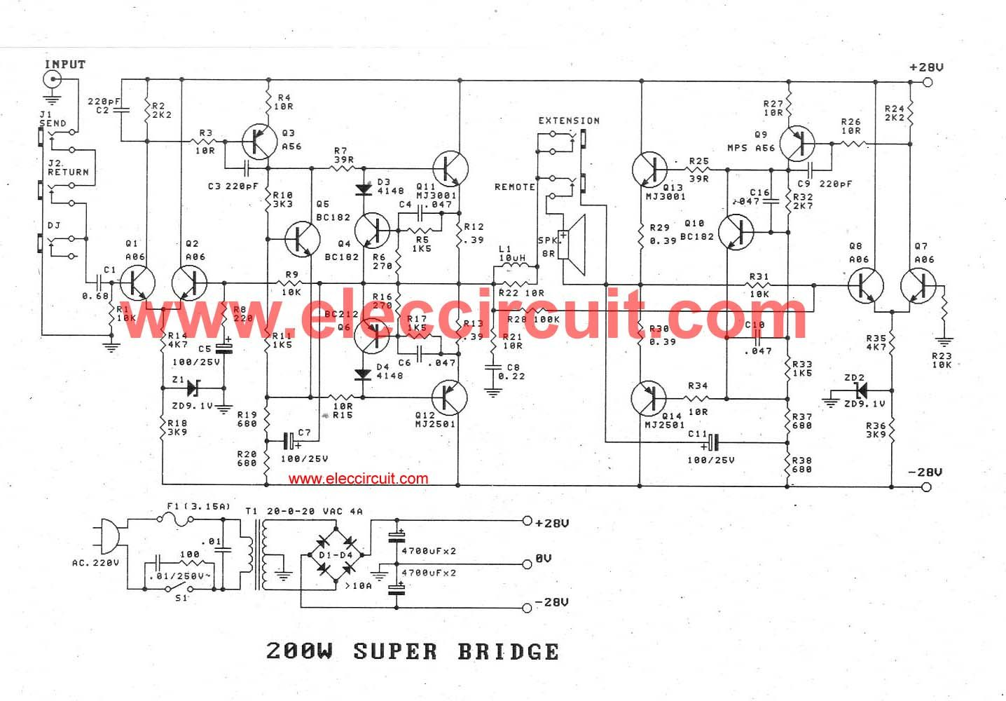 Simple Design With High Bass Home Theater Circuit Diagram Layout