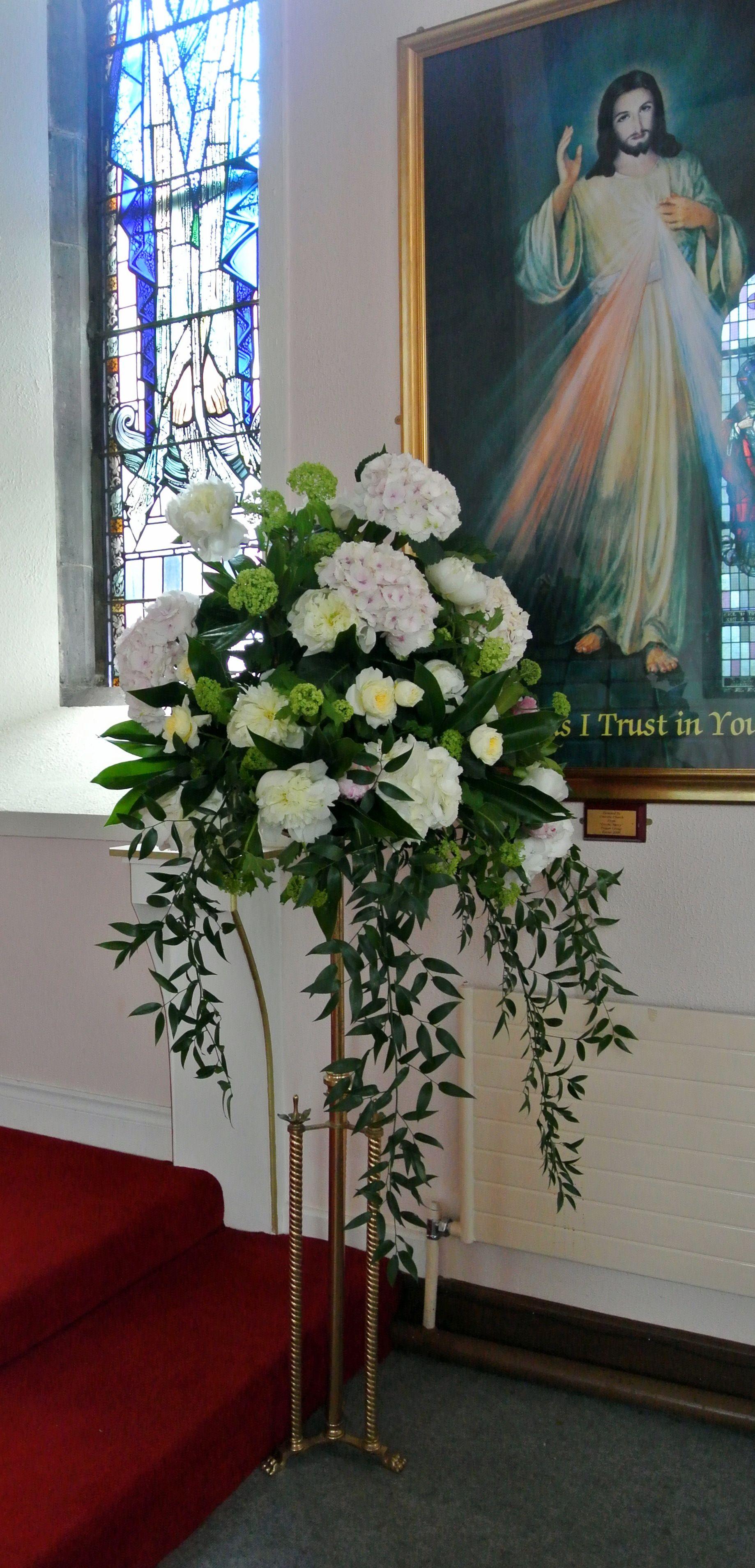 Church Wedding Flowers Pedestal