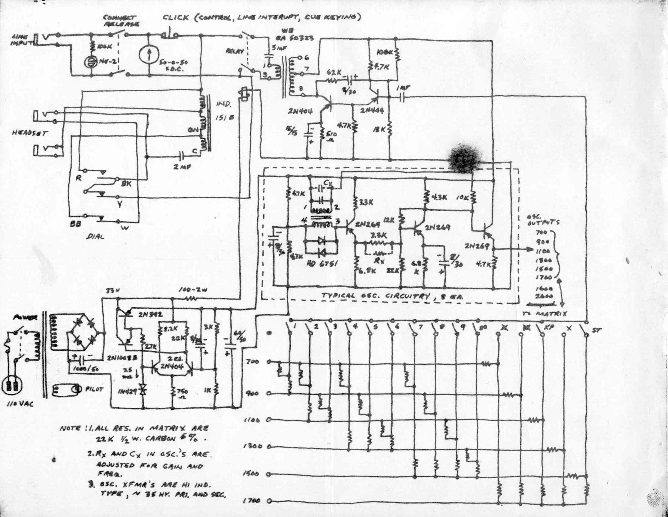S Prototype Blue Box Schematic
