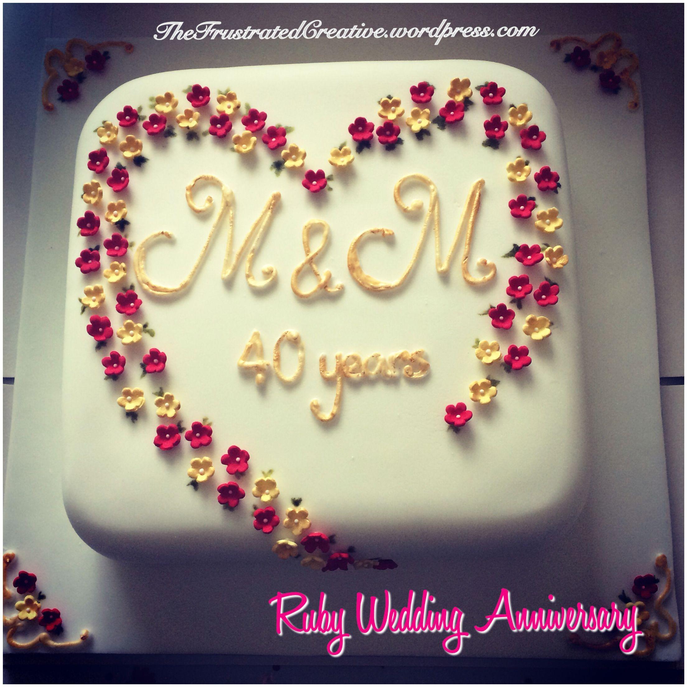 Ruby Wedding Forty Years Anniversary Thefrustratedcreative