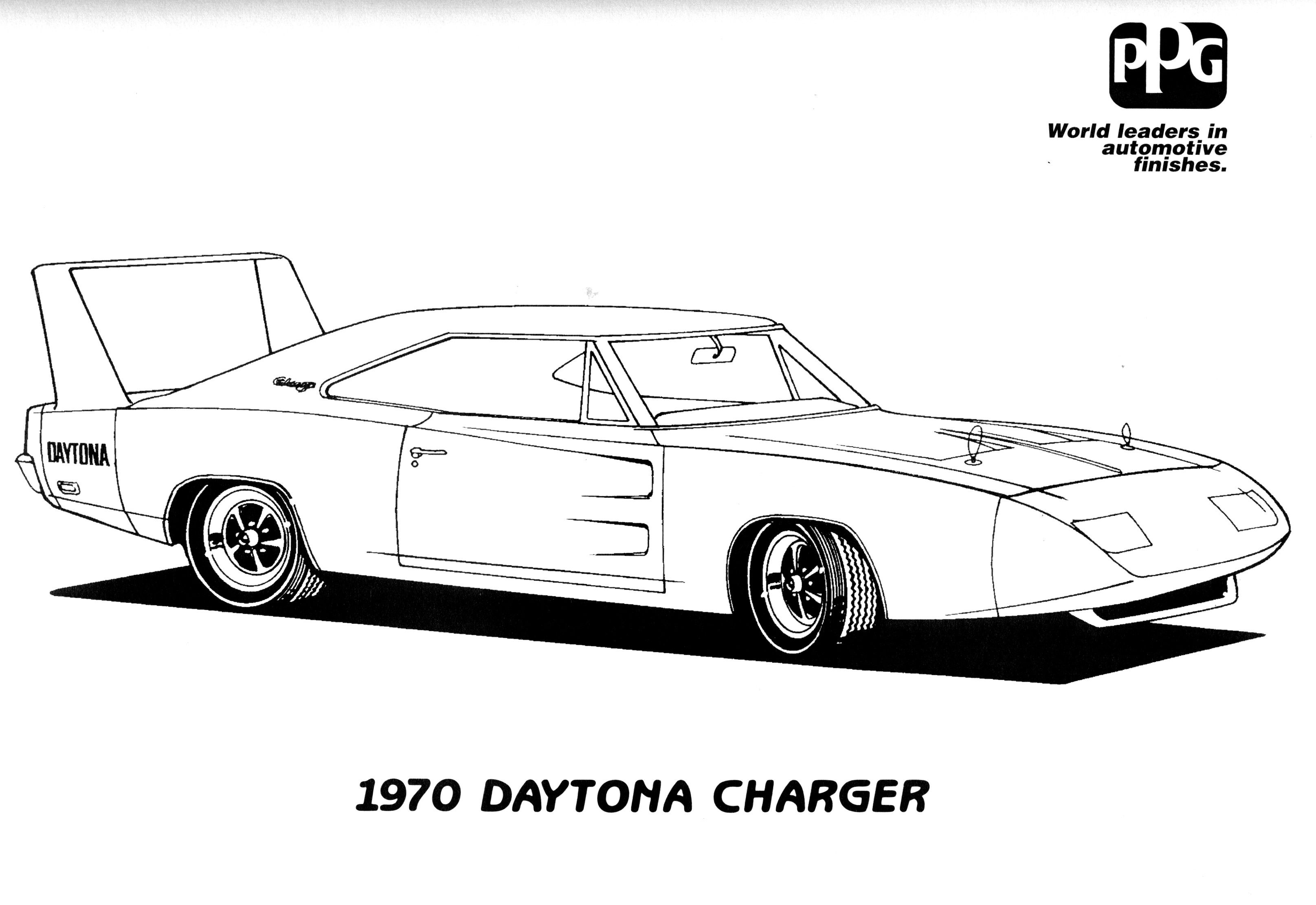 Muscle Car Coloring Pages