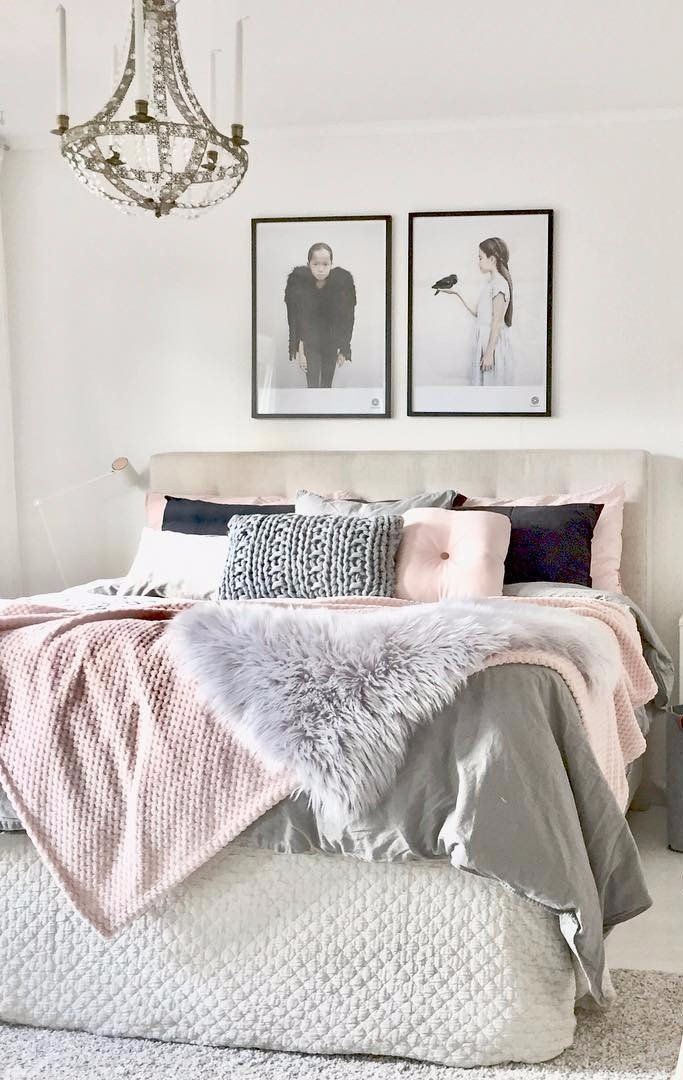 27 gorgeous bedrooms that ll inspire you to redecorate bedrooms room and room ideas on grey and light pink bedroom decorating ideas id=79174