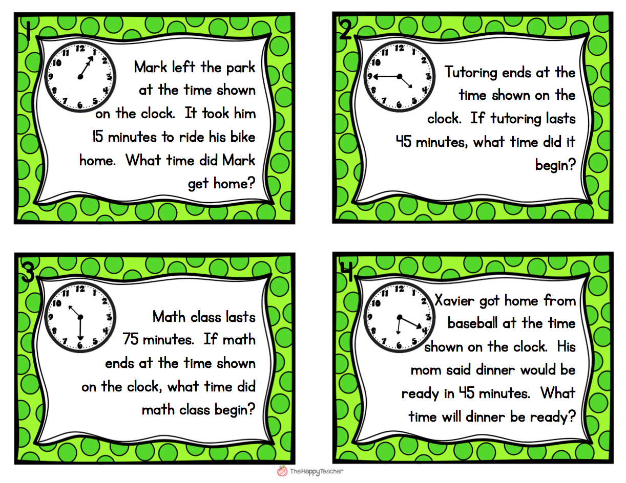 Elapsed Time Task Cards Get Students Up And Moving With These Elapsed Time Word Problems