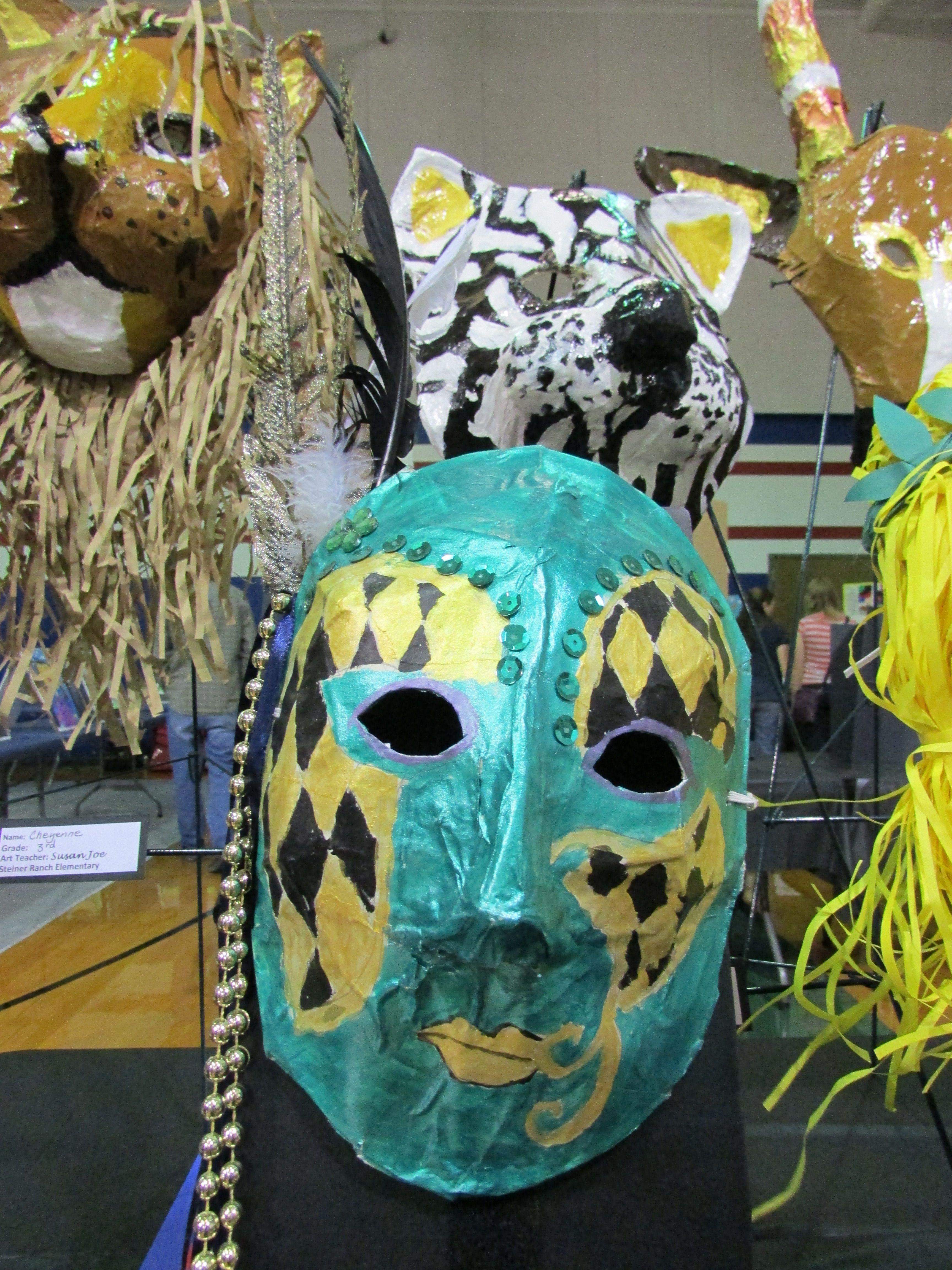 3rd Grade Paper Mache Mardi Gras Mask Lesson By Art