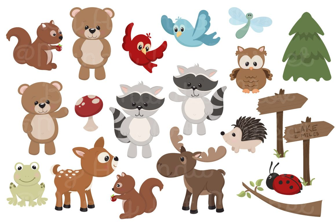 Adorable Free Woodland Animals Clipart And Digital Papers