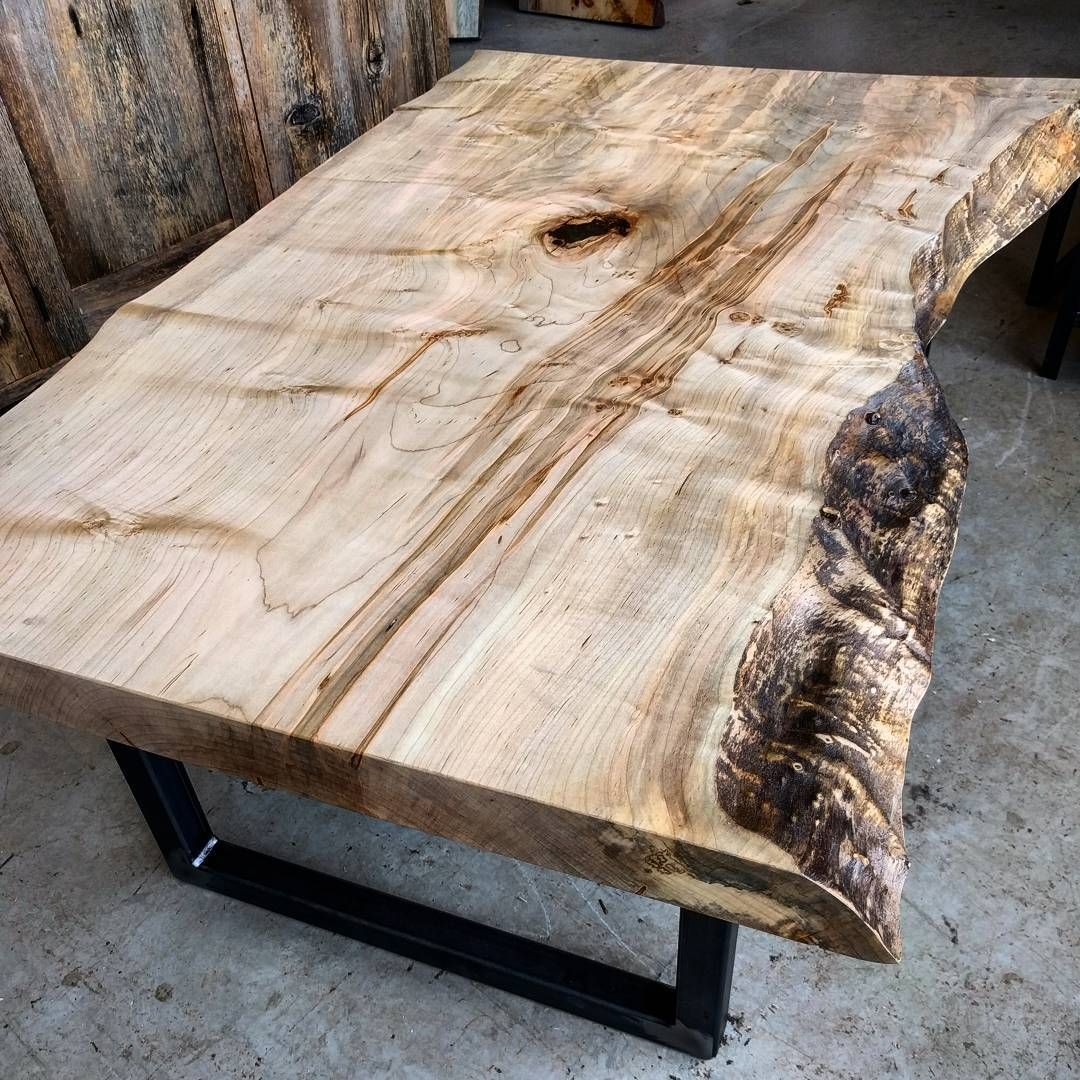 figured ambrosia maple live edge coffee table this was a on stunning wooden metal coffee table id=33946