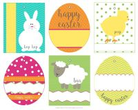 Easter bunny labels merry christmas and happy new year 2018 easter bunny labels negle Images