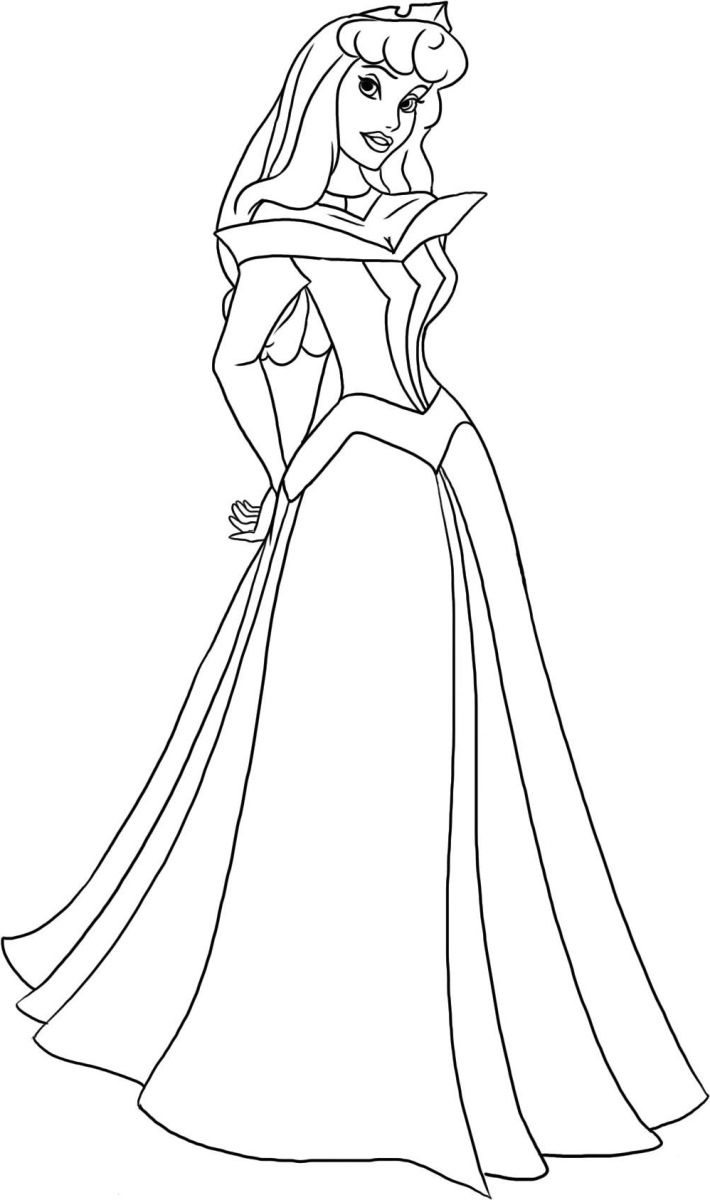 Sleeping Beauty Coloring Pages 710×1200 Princes Shower