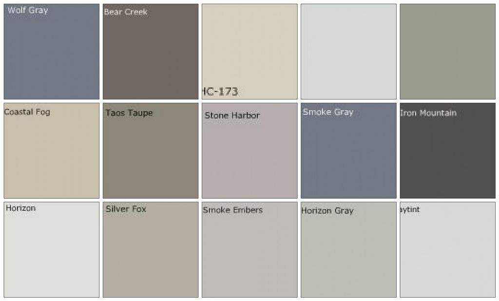 interior paint color chart gray paint designers on benjamin moore interior paint chart id=15321