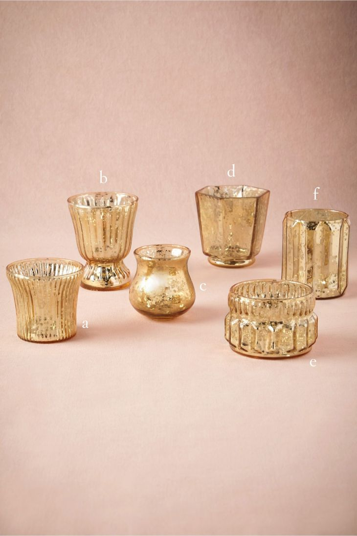 Mixed Mercury Votives from BHLDN mixed metal inspiration