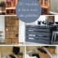 meubles à faire avec des palettes pallets decoration and