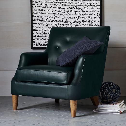 Livingston Leather Club Chair West Elm