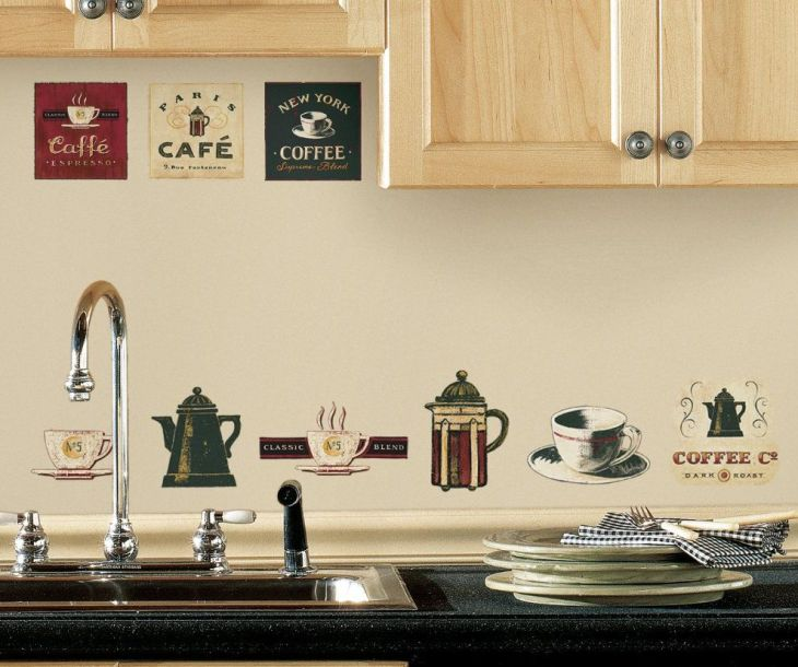 Coffee Cafe Kitchen Wall Decor Cafe Coffee Wall Stickers peel and