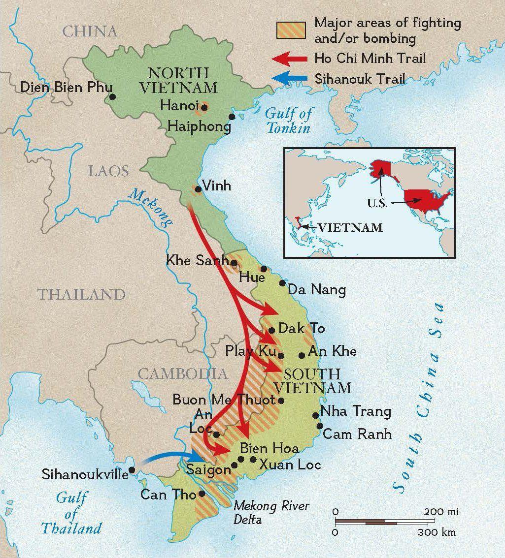 Nva Units In Vietnam Map Vietnam War